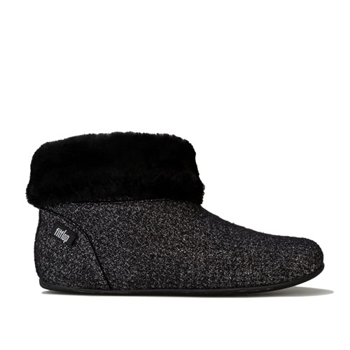 Womens Sarah Shearling Glimmer Bootie Slippers loving the sales
