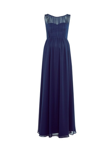 Womens Showcase Maternity Navy Natalie Maxi Dress - Blue