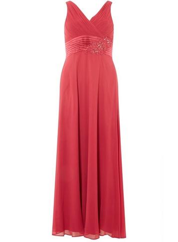 Womens Showcase Petite Cranberry 'Aria' Maxi Dress - Red