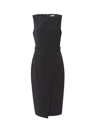 Womens Tall Black Belt Wrap Dress