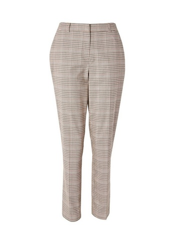 Womens Tall Pink Grid Check Print Trousers - Multi Colour