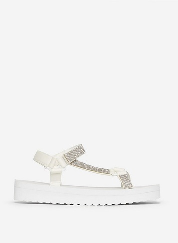 Womens White 'Frappe' Sports Sandals