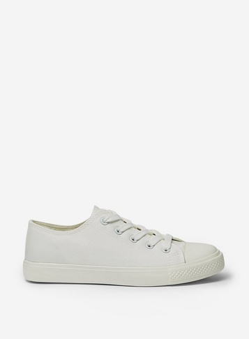 Womens Wide Fit White 'Icon' Trainers