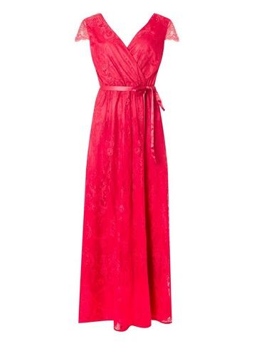 Womens 'showcase Fuchsia 'Isla' Lace Maxi Dress - Red