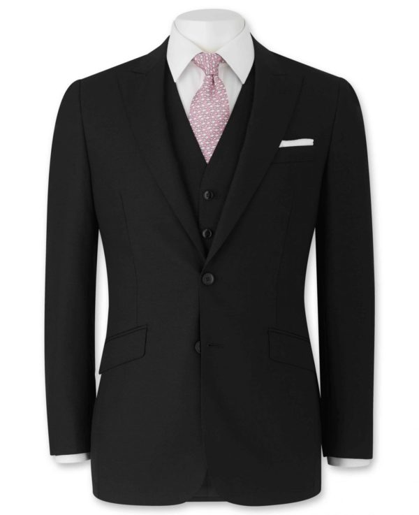 "Black Tailored Business Suit Jacket 40"" Long loving the sales"
