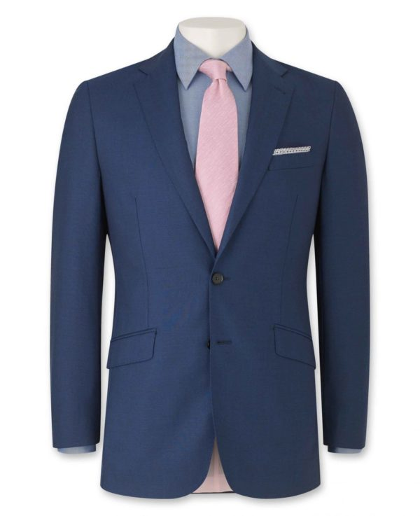 """Bright Navy Tailored Business Suit Jacket 40"""" Long loving the sales"""