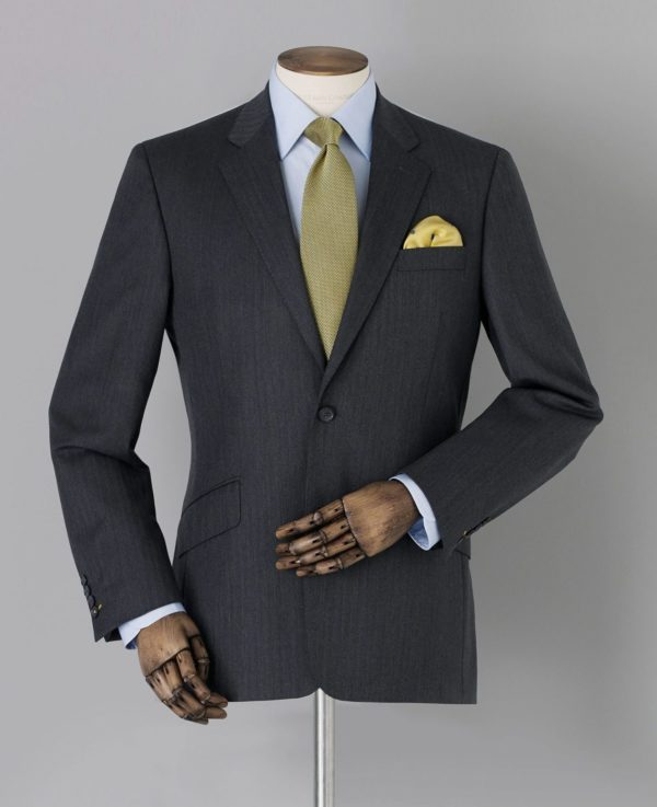 """Limited Edition Grey Herringbone Tailored Suit Jacket 42"""" loving the sales"""