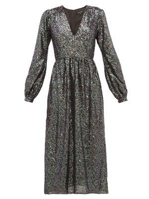 Saloni  Camille Sequinned Midi Dress loving the sales