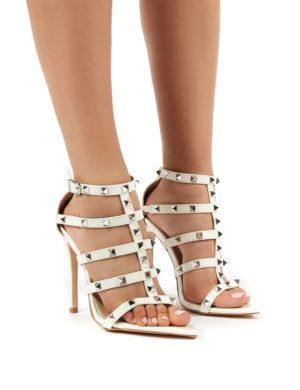 Sara  Studded Stiletto High Heeled Sandal