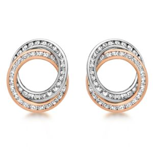 9ct Bicolour Gold Cubic Zirconia Stud Earrings loving the sales