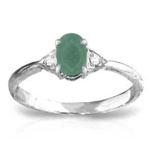 Emerald & Diamond Ring In Sterling Silver loving the sales